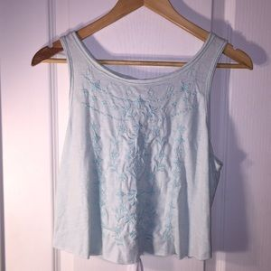 Abercrombie & Fitch Mint Cropped Tank Top